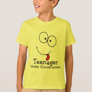 Teenager Under Construction Funny Face T-Shirt