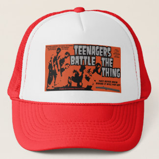 Teenagers Battle The Thing Trucker Hat