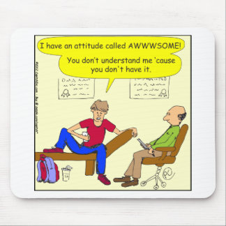 Teens are awesome cartoon mouse pad