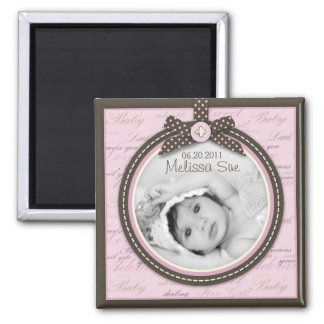 Teeny Toes Pink Photo Magnet 2