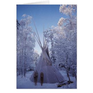 Teepee in Winter Card