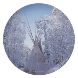 Teepee in Winter Plate