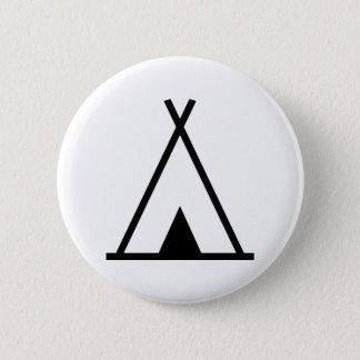 Teepee tent 6 cm round badge