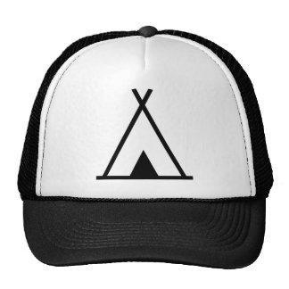 Teepee tent hats