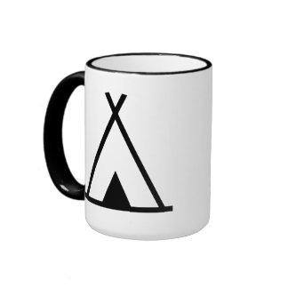 Teepee tent coffee mugs