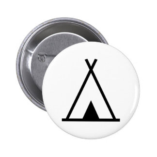 Teepee tent pinback button