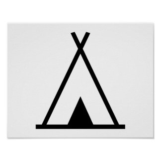 Teepee tent poster