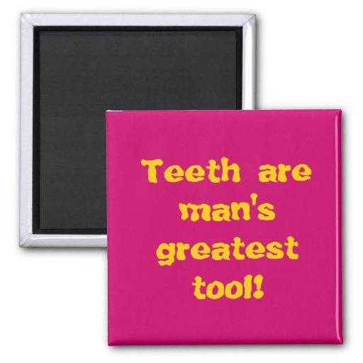 Teeth are man's greatest tool! magnets