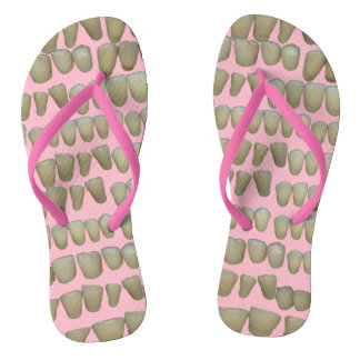 Teeth Dentist Dentistry Orthodontist Pink Flip Flops