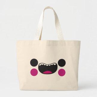Teeth Face Tote Bags