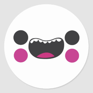 Teeth Face Round Stickers