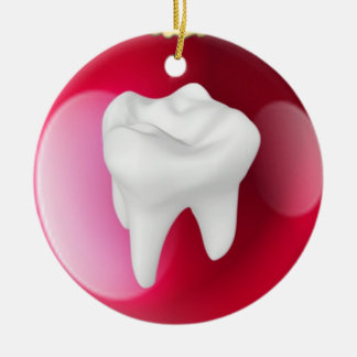 Teeth In A Red Decoration Christmas Ornament