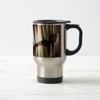 teeth stainless steel travel mug
