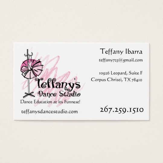 Teffany's Dance Studio Business Card - Custom