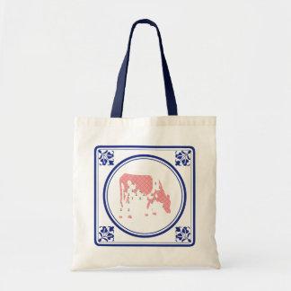 Tegeltje, Dutch tile with Frisian cow Canvas Bag
