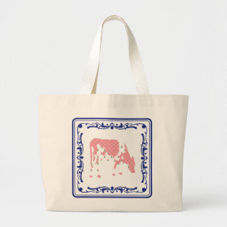 Tegeltje, Dutch tile with Frisian cow Tote Bags