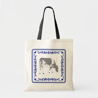 Tegeltje, Dutch tile with Frisian cow Bags