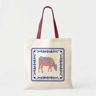 Tegeltje Dutch tile with Frisian cow Canvas Bag