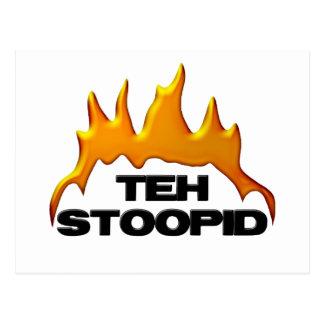 Teh Stoopid Burns Postcard