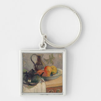 Teiera, Brocca e Frutta, 1899 Silver-Colored Square Key Ring