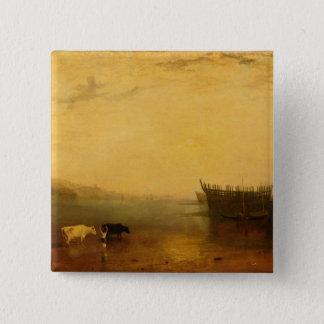 Teignmouth Harbour, c.1812 15 Cm Square Badge