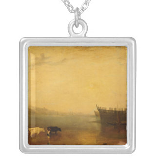 Teignmouth Harbour, c.1812 Silver Plated Necklace