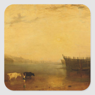Teignmouth Harbour, c.1812 Square Sticker