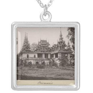 Teik Kyaung monastery, isle of Ka Toe Silver Plated Necklace