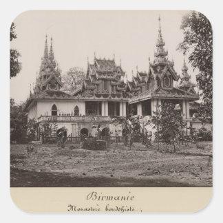 Teik Kyaung monastery, isle of Ka Toe Square Sticker