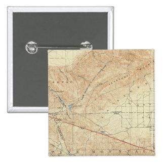 Tejon quadrangle showing San Andreas Rift 15 Cm Square Badge