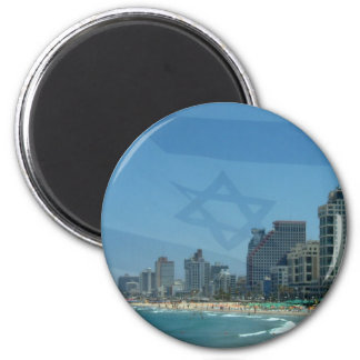 Tel Aviv 6 Cm Round Magnet