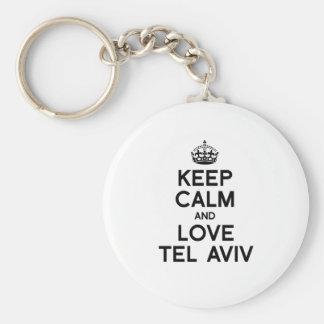 TEL AVIV KEEP CALM -.png Keychain