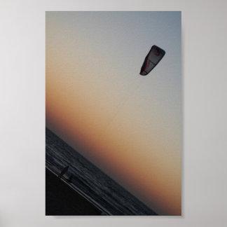 Tel Aviv Kite Flyer Poster