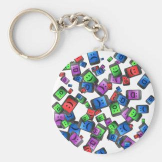 Telecommunication fun. basic round button key ring