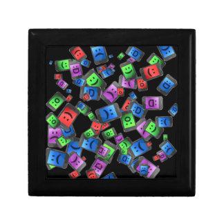 Telecommunication fun. small square gift box