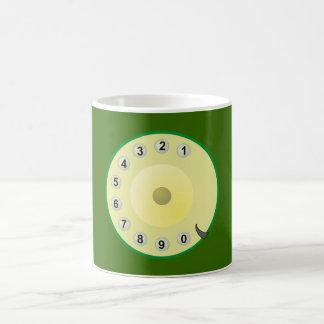 Telefon telephone Wählscheibe dial plate Kaffee Tasse