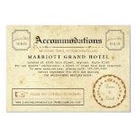 "Telegram Hotel Accommodation Travel Insert Card 3.5"" X 5"" Invitation Card"