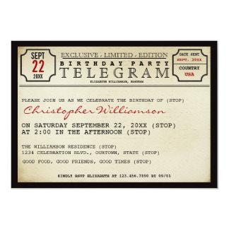 Telegram Style Birthday Party Invitation