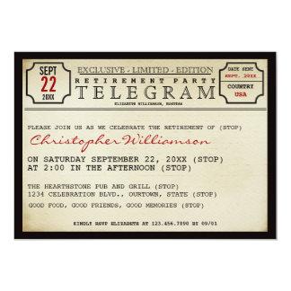 Telegram Style Retirement Party Invitation