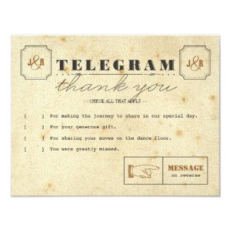 Telegram Thank You Note Card 11 Cm X 14 Cm Invitation Card