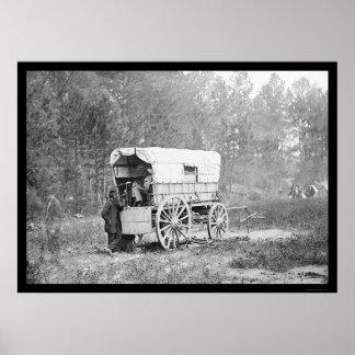 Telegraph Battery Wagon near Petersburg 1864 Poster
