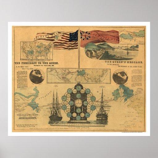 Telegraph Chart Poster 1858