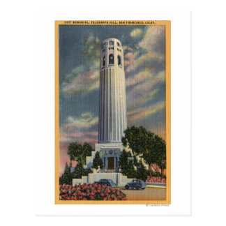 Telegraph Hill View with Coit Memorial Postcards