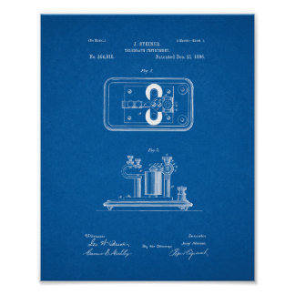 Telegraph Instrument Patent - Blueprint Posters