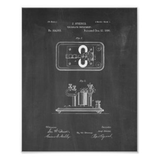 Telegraph Instrument Patent - Chalkboard Poster