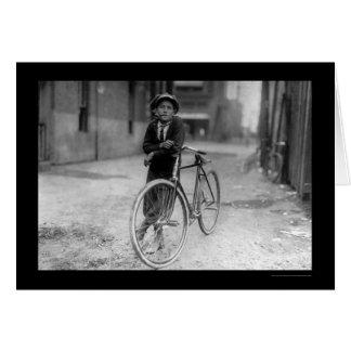 Telegraph Messenger Boy Waco, Texas 1913 Greeting Card
