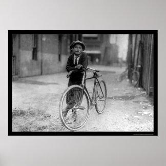 Telegraph Messenger Boy Waco, Texas 1913 Poster