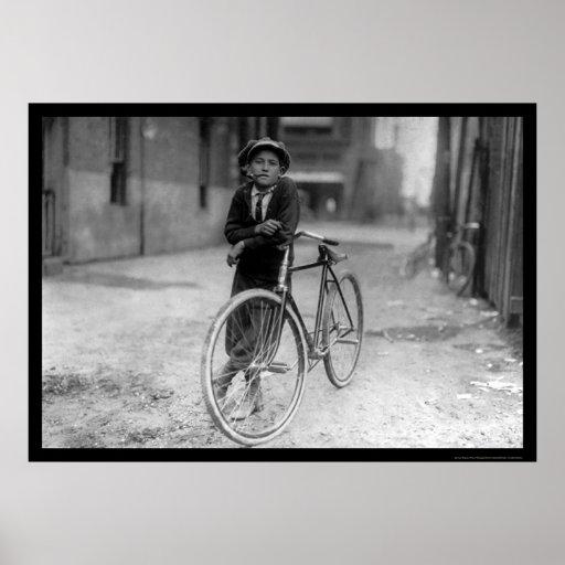 Telegraph Messenger Boy Waco, Texas 1913 Posters