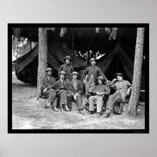 Telegraph Operators in Petersburg, VA 1864 Poster