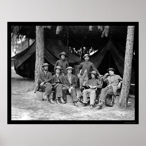 Telegraph Operators in Petersburg, VA 1864 Posters